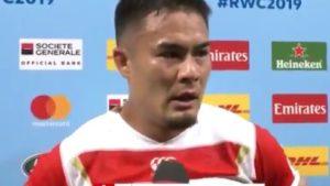 【ラグビー】田村優選手の名言「誰も僕らがどんな犠牲にしてきたかわからないし」